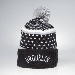 Czapka zimowa Mitchell & Ness winter beanie Brooklyn Nets black / grey KW02Z The Highlands