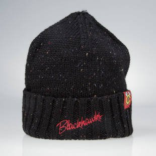 Czapka zimowa Mitchell & Ness winter beanie Chicago Blackhawks black KW20Z TC Heather Script