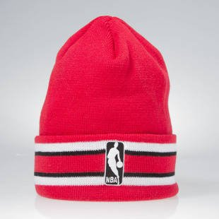 Czapka zimowa Mitchell & Ness winter beanie Chicago Bulls red / white KW07Z League Ream Strip