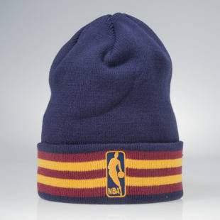 Czapka zimowa Mitchell & Ness winter beanie Cleveland Cavaliers navy / burgundy KW07Z League Ream Strip