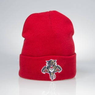 Czapka zimowa Mitchell & Ness winter beanie Florida Panthers red EU175 Team Talk