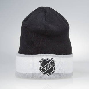 Czapka zimowa Mitchell & Ness winter beanie Los Angeles Kings black / white KW08Z League Ream Strip