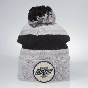 Czapka zimowa Mitchell & Ness winter beanie Los Angeles Kings grey KN43Z Speckled