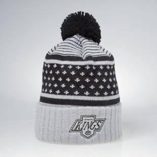 Czapka zimowa Mitchell & Ness winter beanie Los Angeles Kings grey / black KW05Z The Highlands
