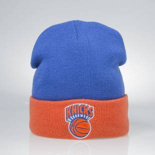 Czapka zimowa Mitchell & Ness winter beanie New York Knicks royal SN005  2 Tone