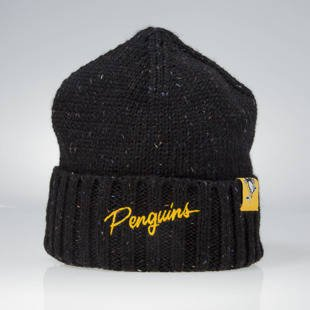 Czapka zimowa Mitchell & Ness winter beanie Pittsburgh Penguins black KW20Z TC Heather Script