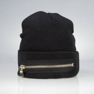 Czapka zimowa Mitchell & Ness x The New Designers winter beanie Front TND Gold Zip black