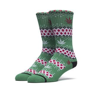 HUF skarpety Bud Stocking Crew Sock green
