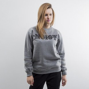 Jungmob bluza crewneck Noisy Sliders grey heather