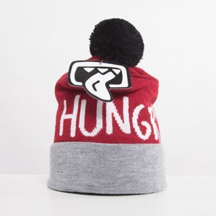Jungmob czapka zimowa Hungry grey / burgundy / black