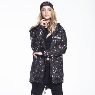 Jungmob kurtka Mess Paint Rain Jacket black