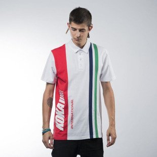 Koka koszulka International Polo white / red
