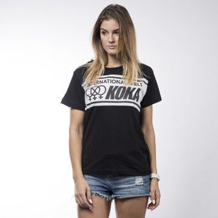 Koka koszulka t-shirt International black / white WMNS
