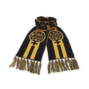 Koka szalik Queensbridge Girls Scarf navy / yellow