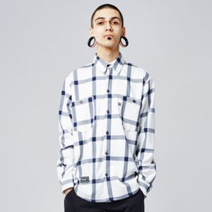 Koszula Backyard Cartel Check Shirt white SS2017
