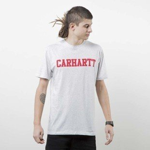 Koszulka Carhartt WIP College T-Shirt ash heather / chili