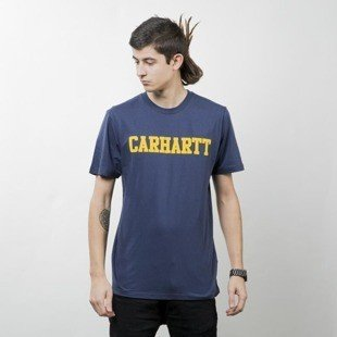 Koszulka Carhartt WIP College T-Shirt navy / yellow