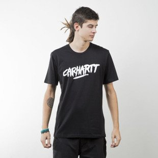 Koszulka Carhartt WIP Painted Script  T-Shirt black / white
