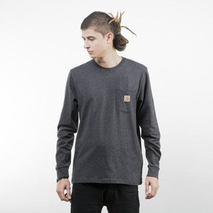 Koszulka Carhartt WIP Pocket Longsleeve black heather