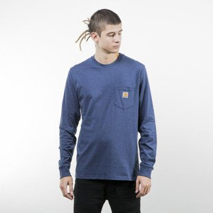 Koszulka Carhartt WIP Pocket Longsleeve blue heather