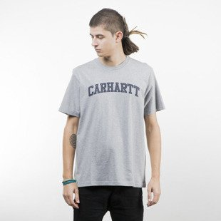 Koszulka Carhartt WIP Yale T-Shirt grey heather / navy