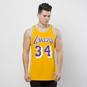 Koszulka Mitchell & Ness Los Angeles Lakers #34 Shaquille O'Neal yellow Swingman Jersey