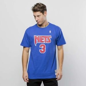 Koszulka Mitchell & Ness New Jersey Nets T-shirt royal Name & Number Traditional
