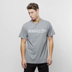 Koszulka Mitchell & Ness Own Brand T-shirt charcoal / white M&N Script Logo Traditional