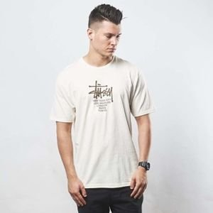 Koszulka Stussy t-shirt Big Cities Tee natural