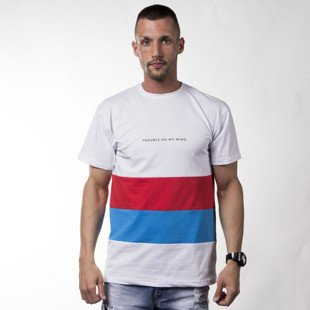 Koszulka We Peace It X Unleashed T-shirt Trouble white / red / blue