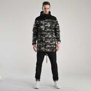 Kurtka Backyard Cartel Black Wood Long Parka black camo