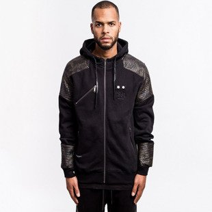 Kurtka Cayler & Sons BLACK LABEL Moto Zip Hoody Jacket black / woodland (BL-CAY-AW16-AP-07)