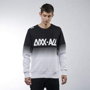 Luxx All bluza swetashirt Faded crewneck black / white