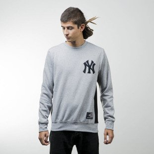 Majestic Athletic bluza Bulba Chenille Chest Logo Crew Sweat New York Yankees grey MNY2367E2