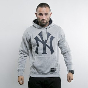 Majestic bluza hoody New York Yankees heather grey Basic Logo OTH