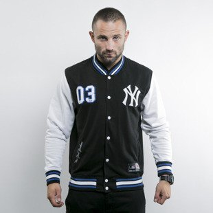 Majestic bluza varsity New York Yankees black/white Lockler LB Letterman (A6NYY6530BLK001)