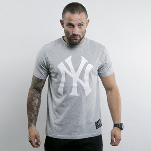 Majestic koszulka New York Yankees heather grey Frittle Logo
