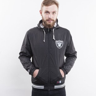 Majestic kurtka Oakland Raiders black Hooded Perforated Windrunner (A6ORA6511BLK001)