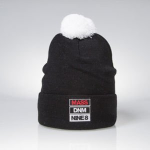 Mass Denim BLAKK czapka zimowa winter beanie Slogan black