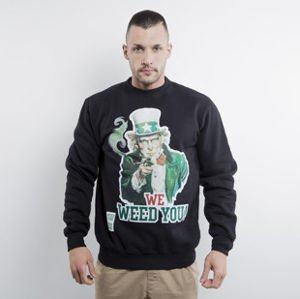 Mass Denim bluza We Weed You crewneck black