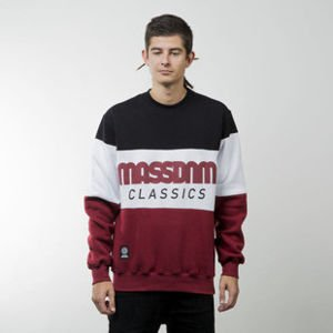 Mass Denim bluza sweatshirt Classic Cut crewneck claret / black