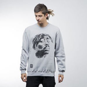 Mass Denim bluza sweatshirt La Legend crewneck light heather grey