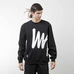 Mass Denim bluza sweatshirt Signature Big crewneck black