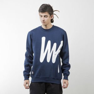Mass Denim bluza sweatshirt Signature Big crewneck navy
