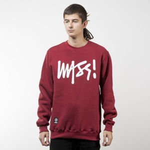 Mass Denim bluza sweatshirt Signature crewneck claret