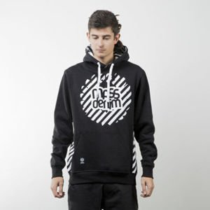 Mass Denim bluza swetashirt Stripes Logo hoody black
