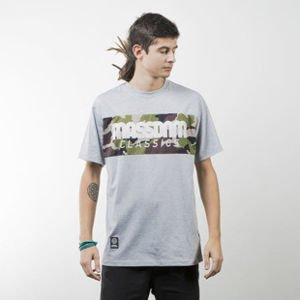 Mass Denim koszulka t-shirt Classics Camo light heather grey