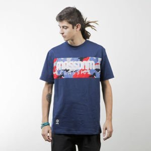 Mass Denim koszulka t-shirt Classics Camo navy