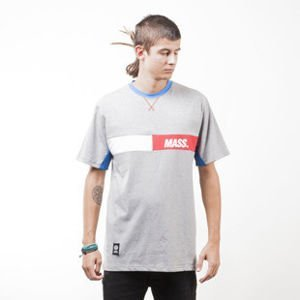 Mass Denim koszulka t-shirt Hello light heather grey