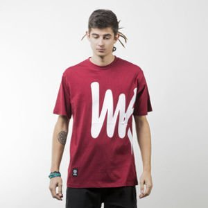 Mass Denim koszulka t-shirt Signature Big claret